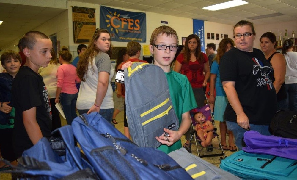 """The schoolkit was the best thing he had ever received."""