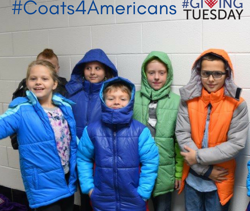 #Coats4Americans: A campaign to provide coats for children in Appalachia.
