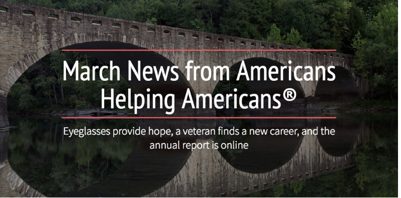 March News: Eyeglasses, Veteran Support, and more