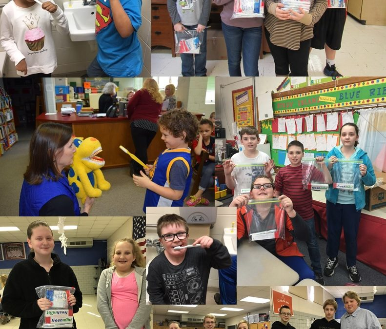 """Sneedville Elementary students received the """"Mighty Molars"""" dental kits"""