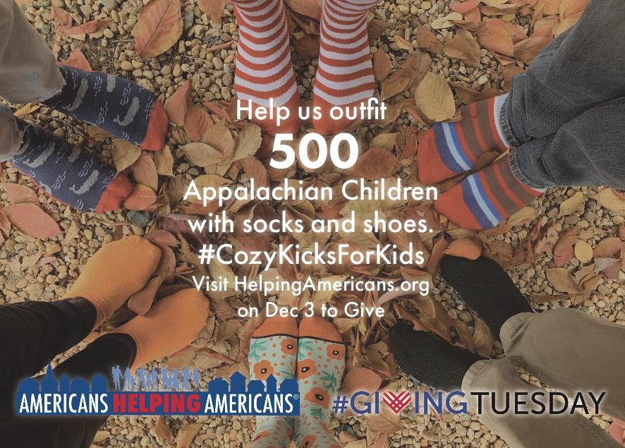 Giving Tuesday on December 3: Cozy Kicks for Kids