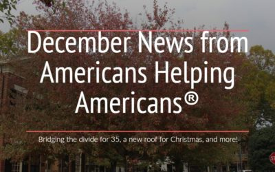 Bridging the divide for 35, a new roof for Christmas, and more!