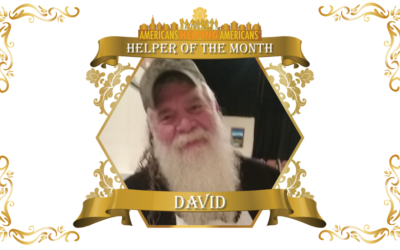 Congratulations to David Garrison – Our Helper of the Month for January!